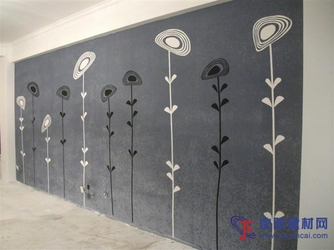 沈阳碧然硅藻泥背景墙效果图植物简画4