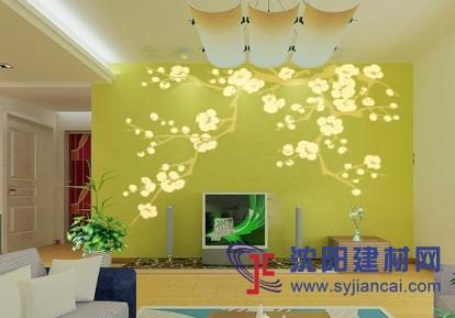 沈阳碧然硅藻泥背景墙效果图植物简画9-产品展示 沈阳碧然硅藻泥