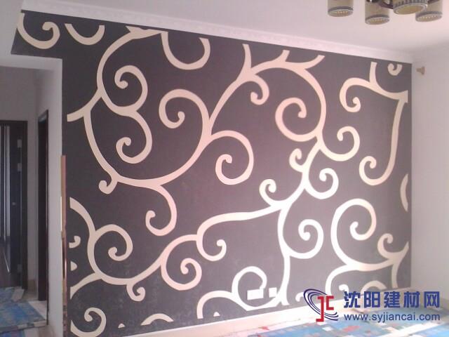 沈阳碧然硅藻泥背景墙效果图欧式壁花2