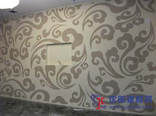 沈阳碧然硅藻泥背景墙效果图欧式壁花4