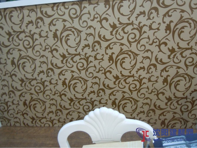 沈阳碧然硅藻泥背景墙效果图欧式壁花3