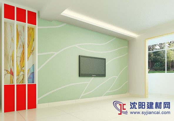 沈阳碧然硅藻泥背景墙效果图条纹格艺7