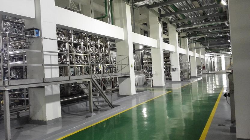 辽宁益海嘉里11米层车间地面防腐耐磨防尘防护地坪。