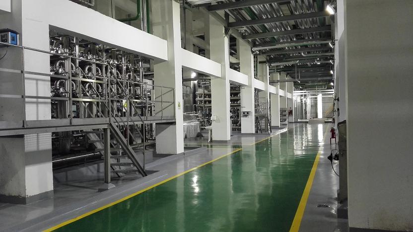 辽宁益海嘉里11米层地面防腐耐磨防护地坪。