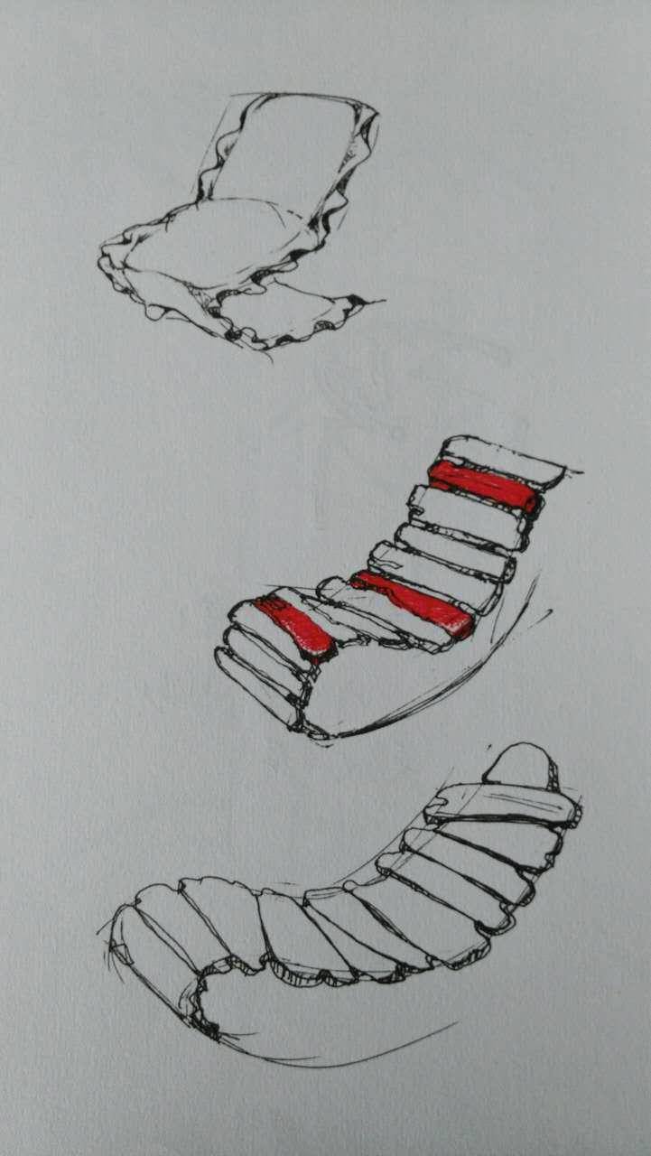 躺椅设计手绘稿