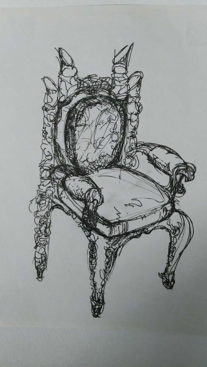 凳子设计素描图片