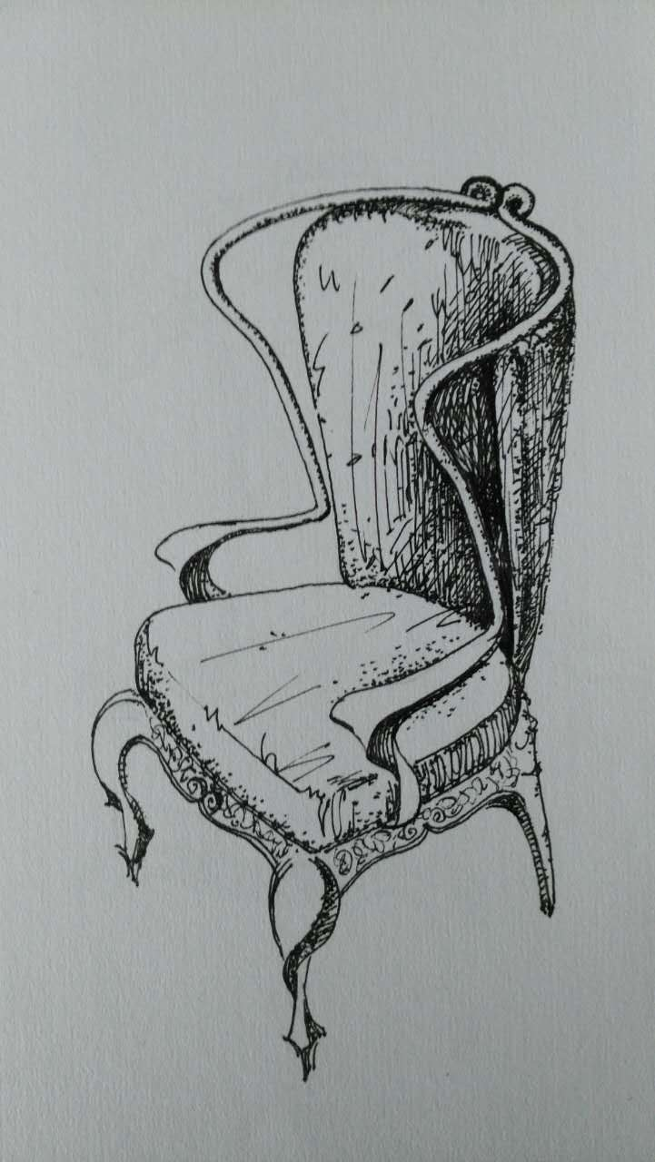 手绘装座椅效果图