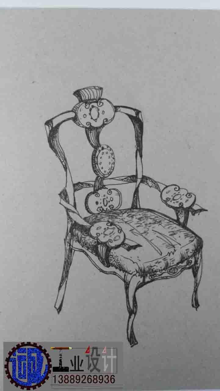 高级酒店家具座椅设计