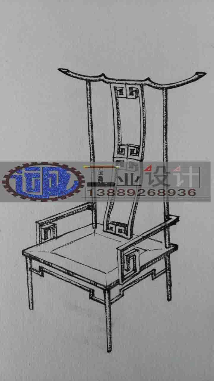 新型仿古家具座椅设计