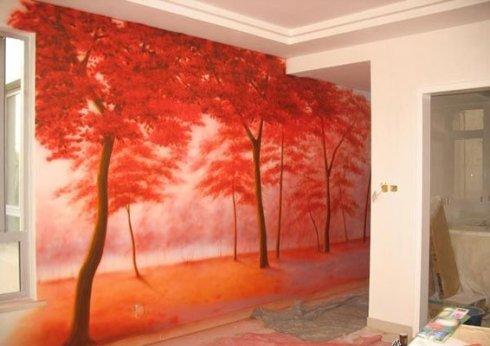 沈阳墙画厂家沈阳墙画设计宣和钧釉墙画