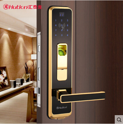 汇泰龙五金指纹锁家用智能门锁电子刷卡锁密码锁防盗锁
