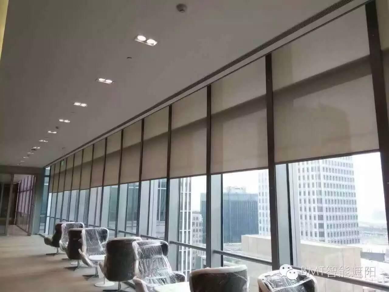 会议室全遮光窗帘 隔断窗帘 阳光房天蓬帘 阳光房蜂巢帘 钢结构电动