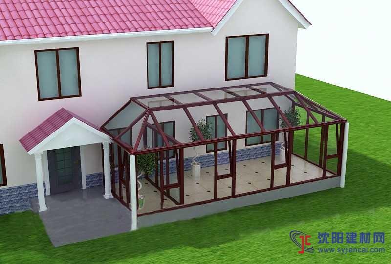大连玻璃阳光房制作,大连别墅花园式阳光房设计