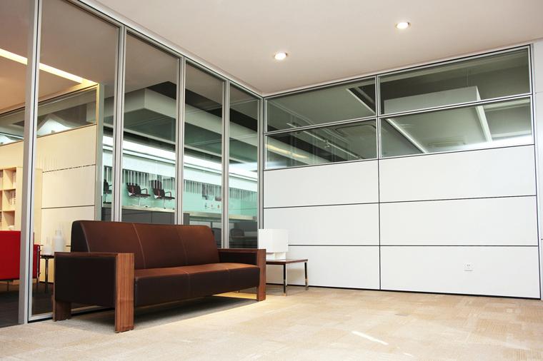 90款内钢外铝隔墙-沈阳方科高端隔断安装
