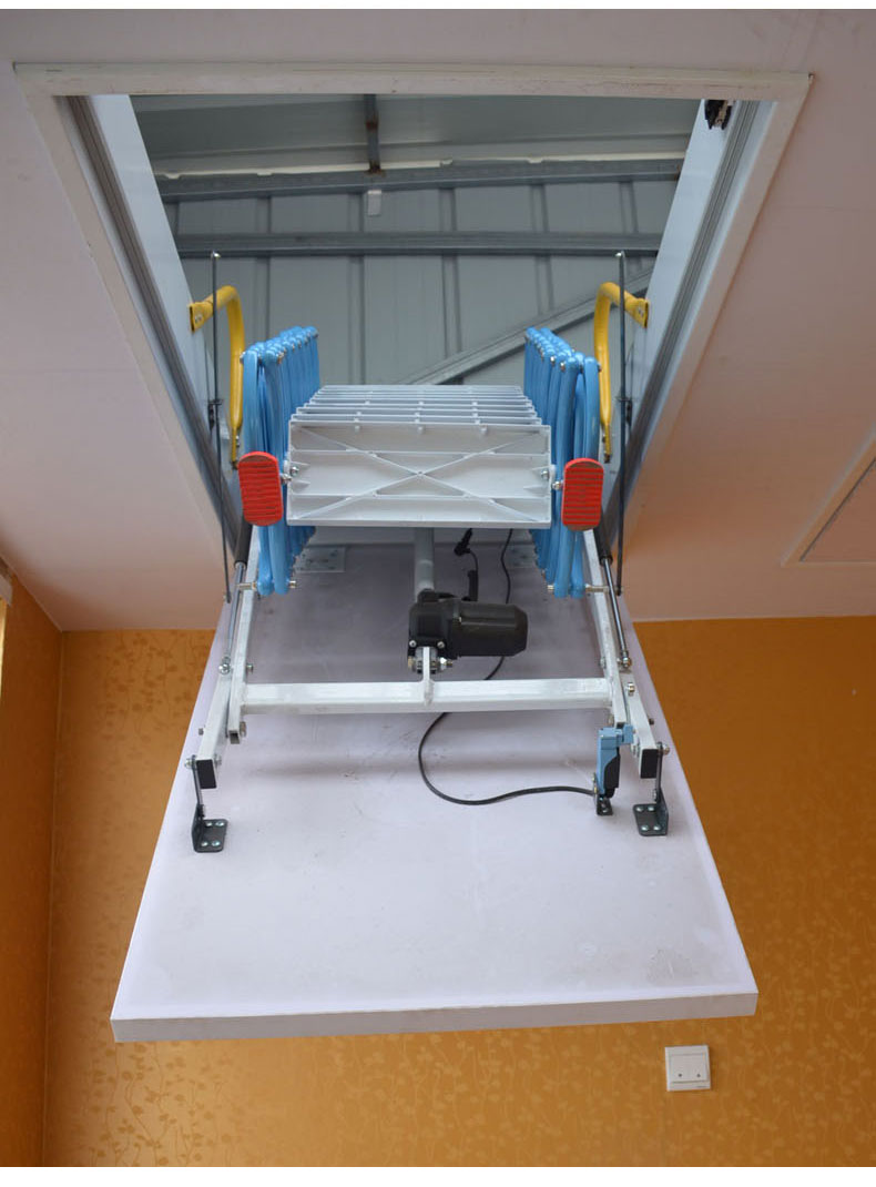 重庆小阁楼伸缩楼梯价格 阁楼折叠伸缩楼梯厂家