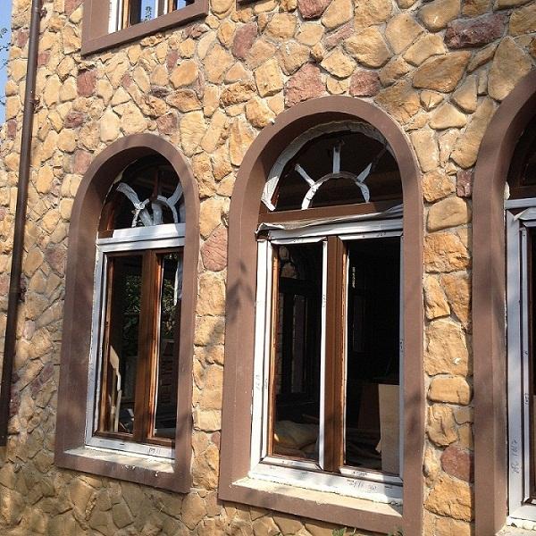 沈阳铝包木门窗德式85铝包实木门窗