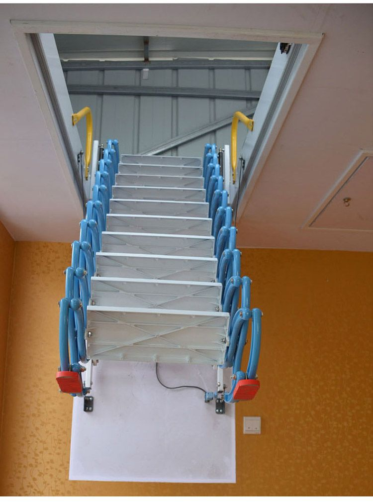 呼和浩特电动遥控伸缩楼梯厂家 伸缩楼梯价格及图片