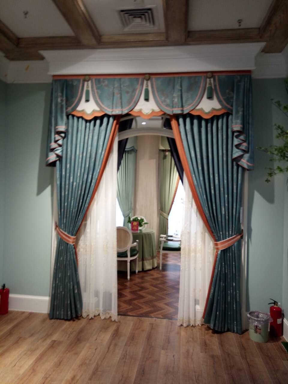 素色棉麻布艺窗帘