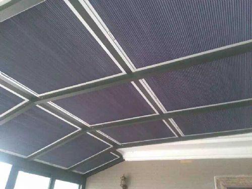 阳光房玻璃顶蜂巢帘遮光