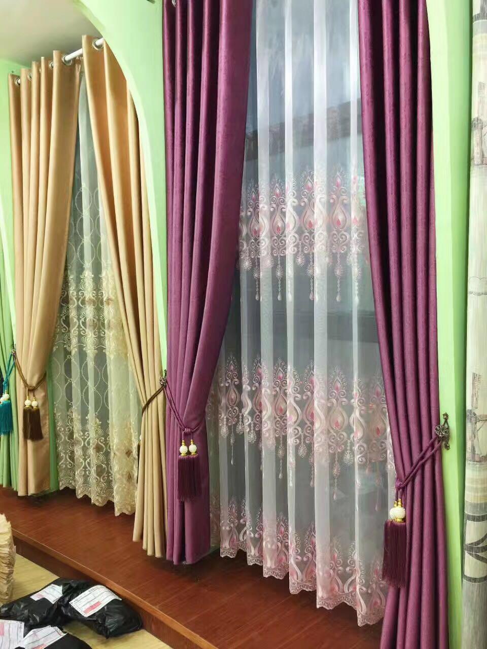 特价欧式绣花窗纱