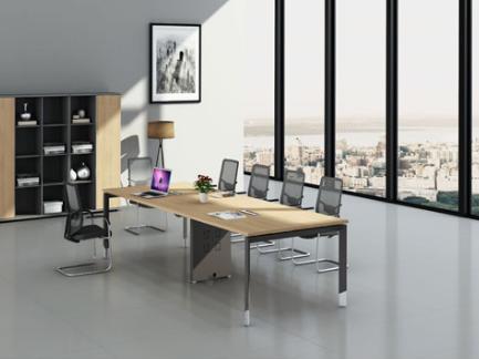办公桌上屏会议台钢架定制