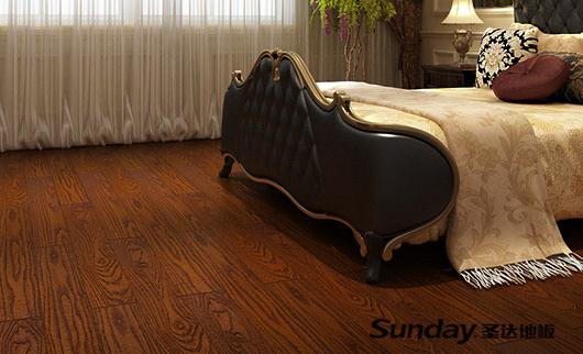 圣达地板家居案例——榆木·金色米兰