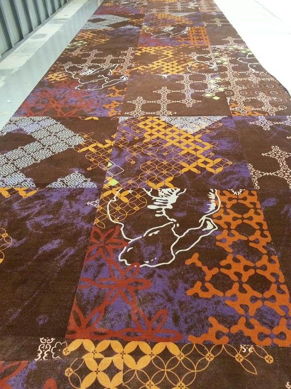 大连阿克明方块地毯展会地毯