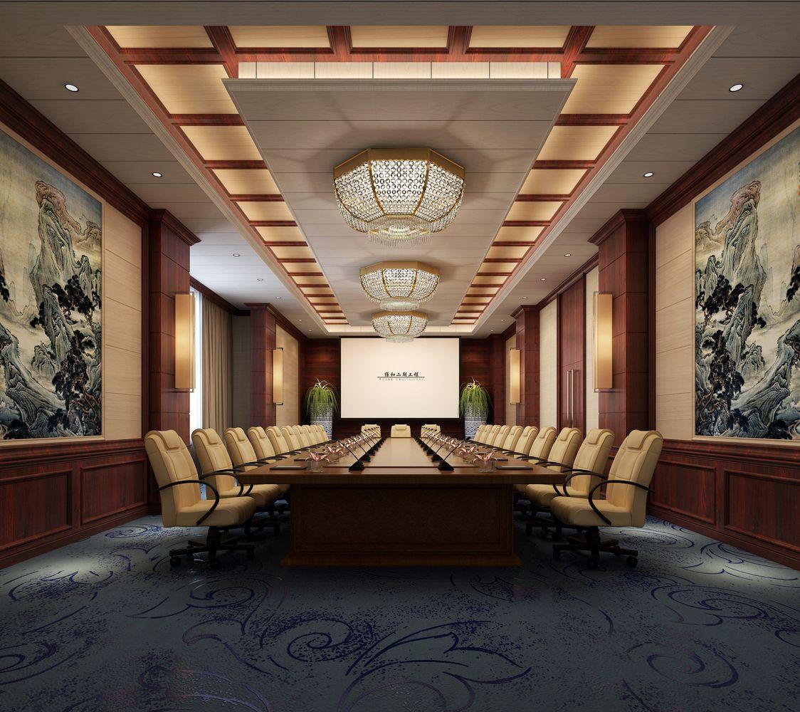 快装墙板会议室冠br88体育效果图
