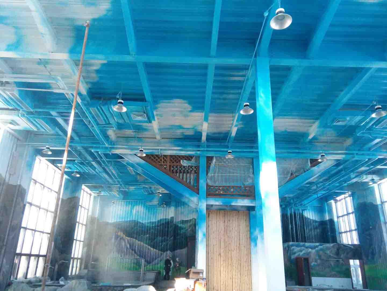 大型儿童戏水游乐场墙画