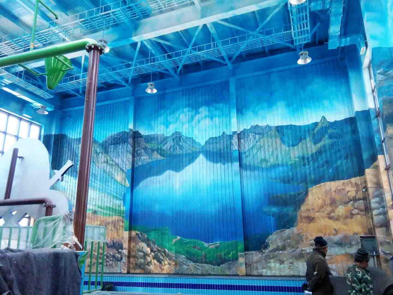 游乐场水上乐园墙画彩绘