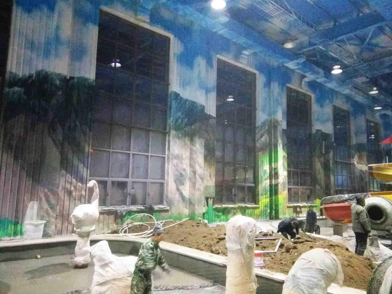 大型戏水乐园墙画