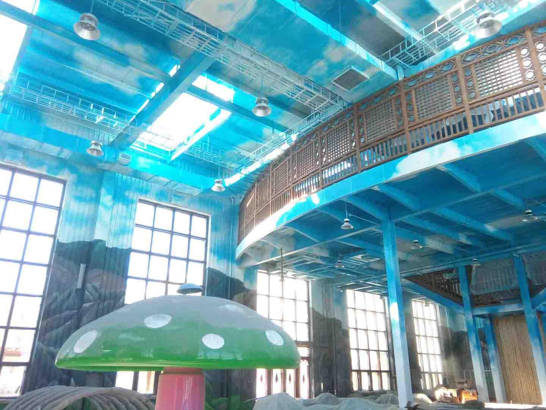 大型游乐场洗浴中心墙画