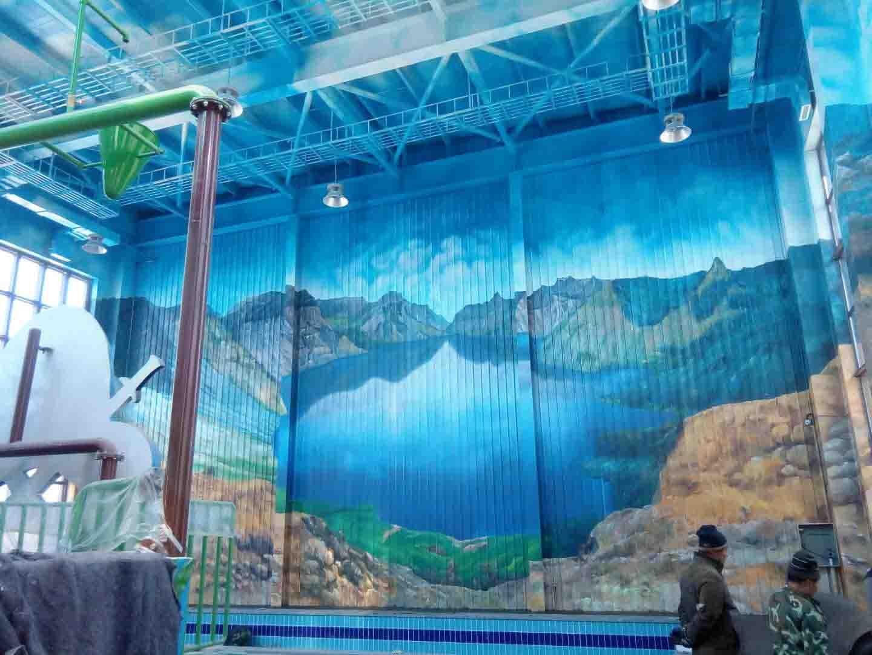大型戏水游乐场彩绘