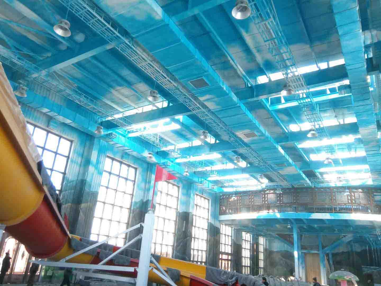 大型洗浴中心彩绘工程