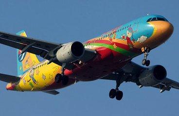 四川航空彩绘飞机