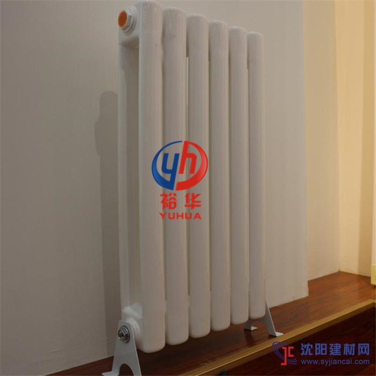 新款铜铝复合暖气片A非钢二柱铝A过水热散热器