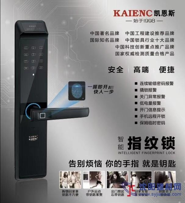 广东凯恩斯新款防盗指纹锁 厂家直销防盗门智能锁