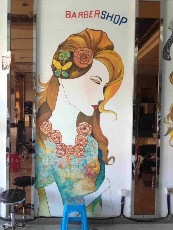美容美发壁画、墙画、彩绘