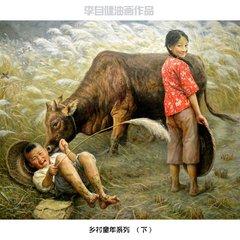童年时光油画