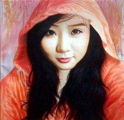少女主题油画艺术