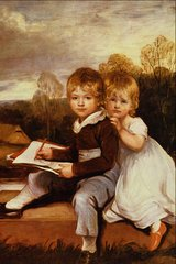 童年的故事油画