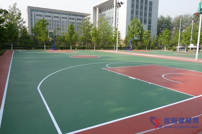 广东邦禾体育硅pu篮球场 学校运动场材料