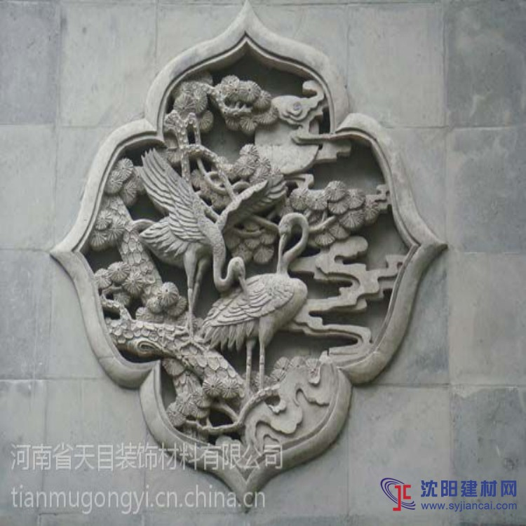 古建艺术砖雕挂板 平面浮雕砖雕