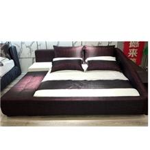 尚澜家居布艺床榻榻米布床可双人床婚床主卧室家具