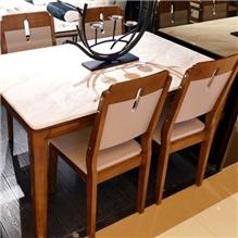 尚澜家居超舒适大理石餐桌实木简约现代餐桌椅组合
