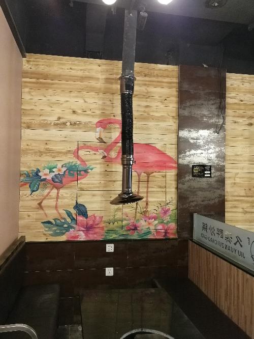 烧烤串店墙画