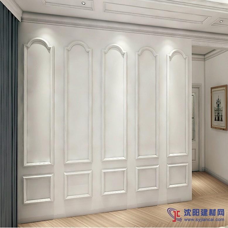 简结风格影视墙 微晶石边框罗马柱大理石瓷砖背景墙