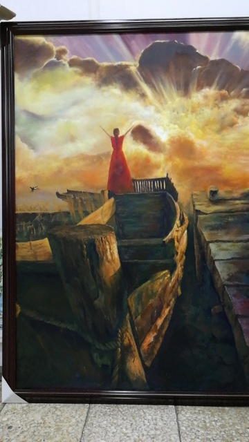 宾馆油画国画墙画