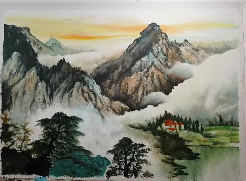 沈阳宾馆油画国画墙画