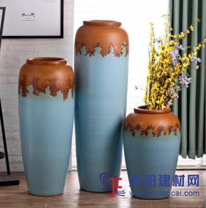 欧式陶瓷三件套干花花瓶